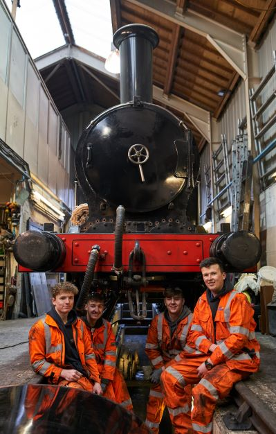 Apprentice opportunities at Breedon Cement, Hope Works, restoring 1888 steam locomotive at Ingrow.